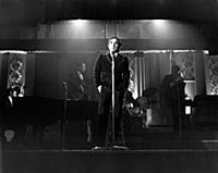 3615470 Charles Aznavour on the stage, 1968 (b/w p