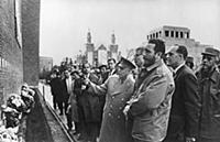 1148314 Fidel Castro Visits The Kremlin Wall In Mo