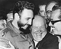 1144126 Khrushchev And Castro (b/w photo); (add.in