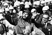 3904722 Fidel Castro of Cuba with President Salvad