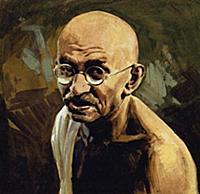 Индийский политический и общественный деятель Махатма Ганди