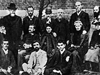 2632446 Mahatma Gandhi with members of the Vegetar