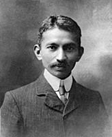 2632448 Gandhi in London, England, 1909 (b/w photo