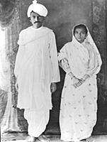 DND240833 Kasturba (1869-1944) and Mahatma Gandhi