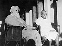 2634946 Mahatma Gandhi and Rabindranath Tagore at