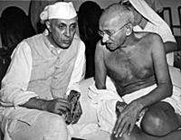 1144019 Gandhi Talks With Nehru (b/w photo); (add.