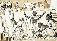 LAL453326 Mahatma Gandhi by McBride, Angus (1931-2