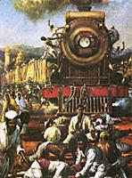 LAL337948 Gandhi\'s peaceful resistance by Watt, J