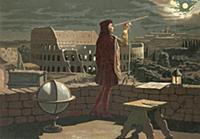 LLM459557 Copernicus observing in Rome an eclipse