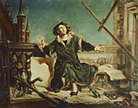 XPH330617 Copernicus in the tower at Frombork (oil