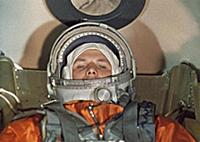 3905500 Cosmonaut Yuri Gagarin Inside the Vostok 1