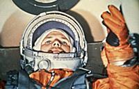3905575 Cosmonaut Yuri Gagarin Inside the Vostok 1