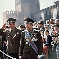 3906832 Soviet Cosmonauts Yuri Gagarin (Right) and