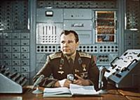 3906882 Yuri Gagarin During a Television Broadcast