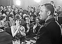 5041330 Cosmonaut Yuri Gagarin meets with particip