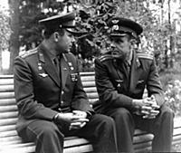 3906100 Yuri Gagarin and Vladimir Komarov in the C