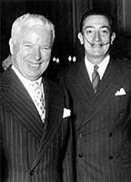 1808115 Chaplin et Dali 1954; (add.info.: Charlie