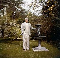 1645353 Charles Chaplin in his garden in Lausanne