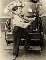 2561238 Charlie Chaplin - The Fireman. 1916 (b/w p