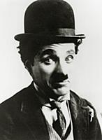 696930 Portrait of Charlie Chaplin (b/w photo); Pr