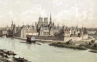 1754552 The palace of Cite island in Paris with on