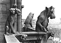ALI213261 Two gargoyles from the balustrade of the