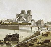 625324 Notre-Dame and the banks of the Seine in Pa