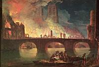 XIR56715 A Fire at the Hotel-Dieu in 1772 (oil on