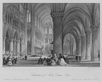 3649455 Cathedral of Notre Dame, Paris (engraving)