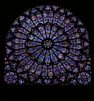 PC347117 The North Rose window depicting Kings and