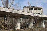 An abandoned hotel at the Chernobyl nuclear power