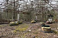 An abandoned amusement park at the Chernobyl nucle