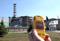 Dosimeter shows the radiation level is 3. 68 mikro