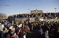 Fall of the Berlin Wall in November 1989: East and
