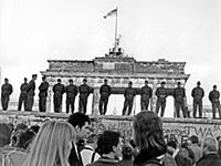 Fall of the Berlin Wall Sunday 12 November 1989.