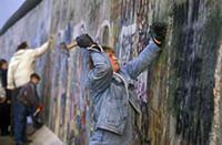 West Berlin, November 1989. The Berlin Wall fall;