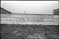 'Thank you Gorby', graffiti on the Berlin Wall, 19