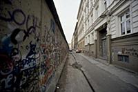 Fall of the Berlin Wall in November 1989: view of