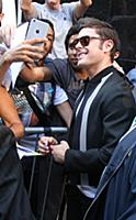 August  17, 2015: Zac Efron at  Good Morning Ameri