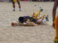 The Pareci people demostrate a game like football