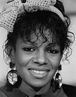Portrait of Rebbie Jackson of the Jackson 5 in the
