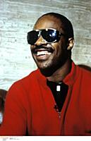 Portrait of Stevie Wonder photographed in the mid