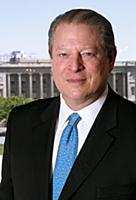 Al Gore photographed in his suite at the Four Seas