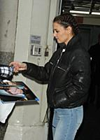 NEW YORK, NY - FEBRUARY 8:  Katie Holmes at AOL Bu