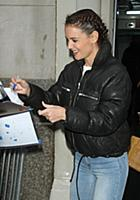 NEW YORK, NY - FEBRUARY 8:  Katie Holmes at AOL Bu