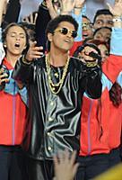 SAN FRANCISCO, CA - FEBRUARY 7: Bruno Mars perform