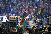 SAN FRANCISCO, CA - FEBRUARY 7: Chris Martin, Jonn