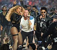 SAN FRANCISCO, CA - FEBRUARY 7: Beyonce, Chris Mar