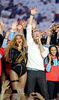 SAN FRANCISCO, CA - FEBRUARY 7: Beyonce and Chris
