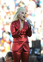 SAN FRANCISCO, CA - FEBRUARY 7: Lady Gaga sings th